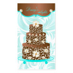 Bakery Wedding Cake Pastry Chef Chocolate Daisy Business Card Template