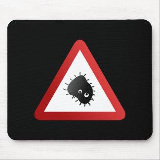 Bakterien-Warnzeichen Mousepad