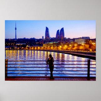 Baku-Pier Poster