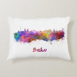 Baku skyline im Watercolor Dekokissen