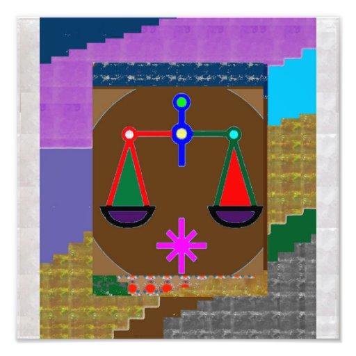 Balance GEISTIGE GERECHTIGKEITS-KOSMISCHE Fotodruck