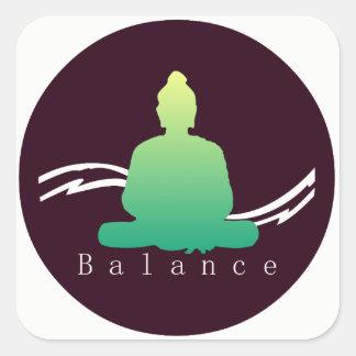 """""""Balance"""" schöner Buddha Quadratischer Aufkleber"""