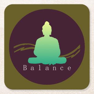 """""""Balance"""" schöner Buddha Rechteckiger Pappuntersetzer"""