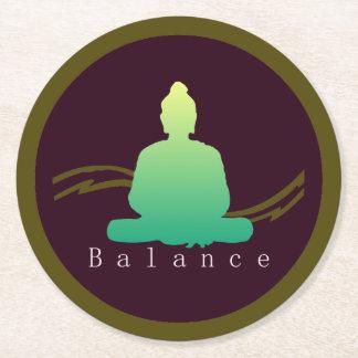 """""""Balance"""" schöner Buddha Runder Pappuntersetzer"""