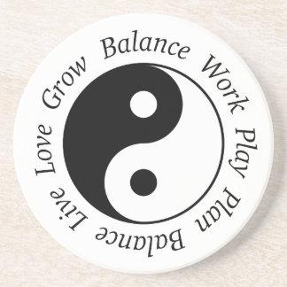 Balance Yin Yang Symbol Untersetzer