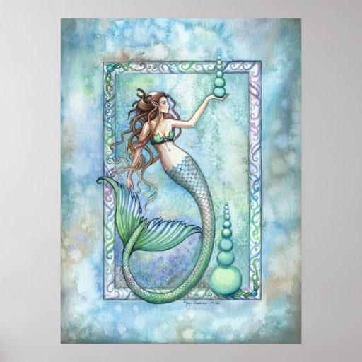 Balancen-Meerjungfrau-Plakat durch Molly Harrison