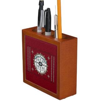 Balancen-Schreibtisch-Stift und Stifthalter