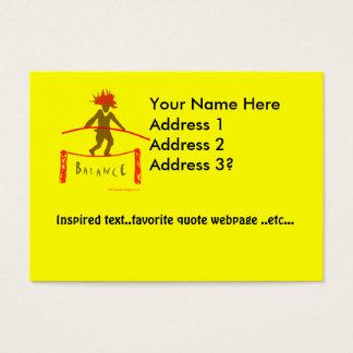 Balancen-… Yoga-Entwurf Visitenkarte