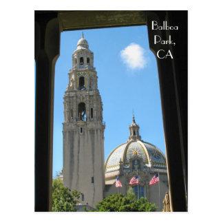 Balboa-Park, CA Postkarte