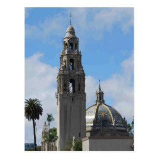 Balboa-Park-Glockenturm Postkarte