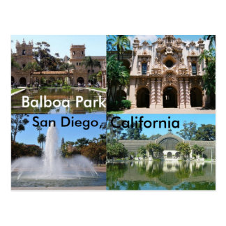 Balboa-Park, San Diego, Kalifornien Postkarte