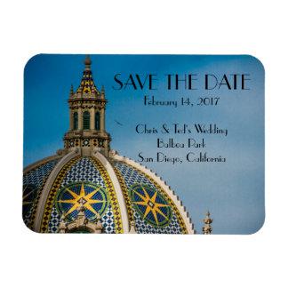Balboa-Park-San Diego Mosaik-Haube Save the Date Magnet