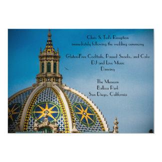Balboa-Park-San Diego Mosaik-Hauben-Empfang Karte