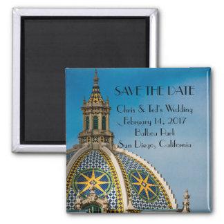 Balboa-Park-San Diego Mosaik-Hauben-Hochzeit Quadratischer Magnet