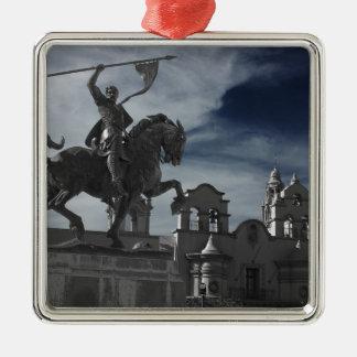Balboa-Park-Statue Quadratisches Silberfarbenes Ornament