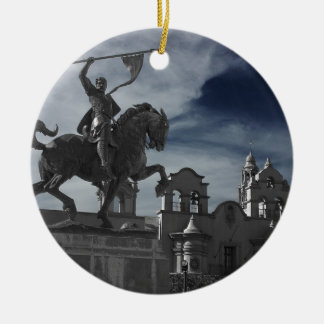 Balboa-Park-Statue Rundes Keramik Ornament