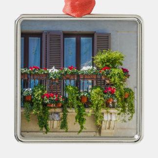 balcuny in Marktplatz navona Quadratisches Silberfarbenes Ornament