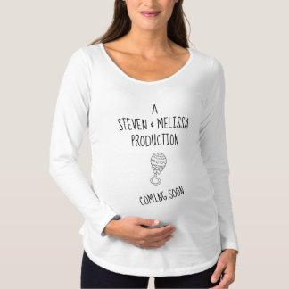 Bald kommen Baby-langer Hülsen-MutterschaftsT - Schwangerschafts T-Shirt