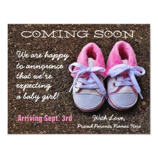 Bald kommen Schwangerschafts-Mitteilung der 10,8 X 14 Cm Einladungskarte