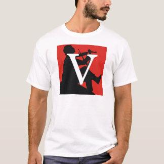 """Bald """"V """" T-Shirt"""