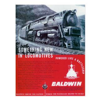Baldwin sich fortbewegende Turbine-Lokomotive Damp Postkarten