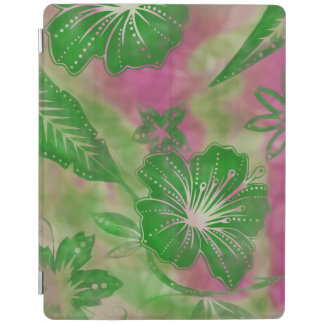 Bali-Blumen-Batik tropisches iPad intelligente iPad Smart Cover
