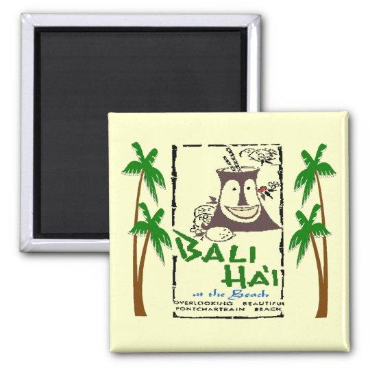 Bali Hai an Pontchartrain Strand New Orleans Quadratischer Magnet