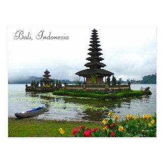Bali, Indonesien - Pura Ulun Danu, See Bratan Postkarte