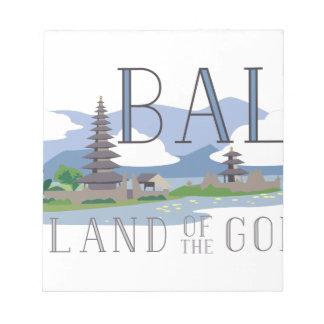 Bali-Insel der Götter Notizblock