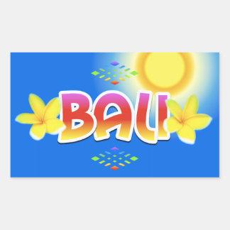 Bali-Insel Rechteckiger Aufkleber