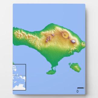 Bali-Karte Fotoplatte