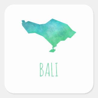 Bali-Karte Quadratischer Aufkleber