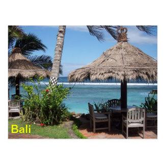 Bali-Strand-Szene Postkarte