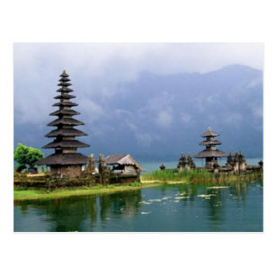 Bali-Tempel Indonesien Postkarte