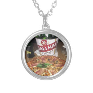 Balibier und -pizza versilberte kette