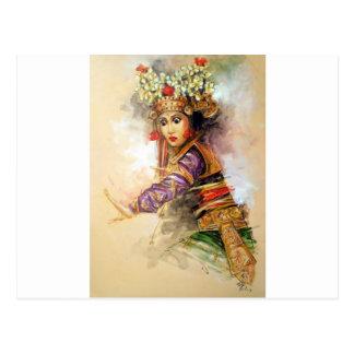 Balinesetänzer Postkarte