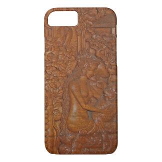 Baliprinzessin-und -affe-Märchen-Holz-Kunst iPhone 8/7 Hülle