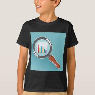 Balkendiagramm in der Lupe T-Shirt