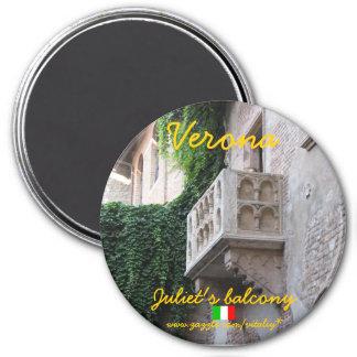 Balkon-Magnetentwurf Veronas Italien Juliets Runder Magnet 7,6 Cm