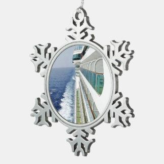 Balkon-Reihe Schneeflocken Zinn-Ornament