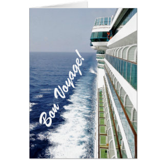 Balkon-Reihen-gute Reise Grußkarte