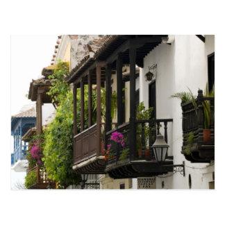 Balkone in Cartagena Postkarte