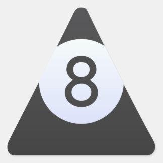 Ball 8 dreieckiger aufkleber