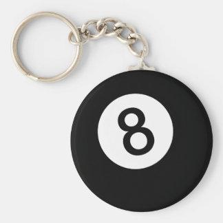 Ball 8 oder schwarze Kugel Schlüsselanhänger