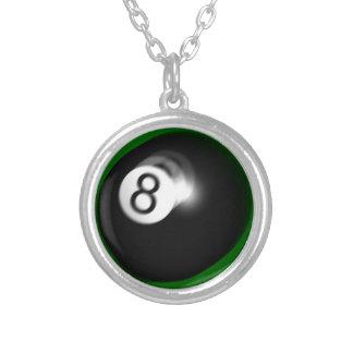 Ball 8 versilberte kette