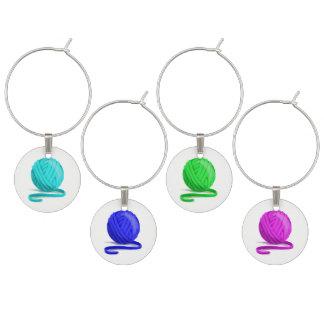 Ball der Garn-Wein-Glas-Markierungen Glasmarker