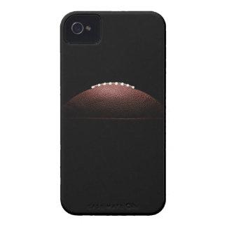 Ball des amerikanischen Fußballs auf schwarzem iPhone 4 Etuis