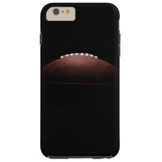 Ball des amerikanischen Fußballs auf schwarzem Tough iPhone 6 Plus Hülle