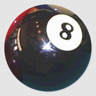 Ball des Pool-8-Ball Runder Aufkleber