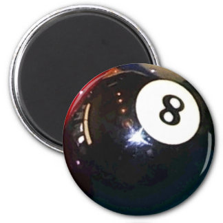 Ball des Pool-8-Ball Runder Magnet 5,1 Cm